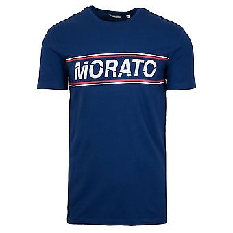 Antony Morato Sport Crew Neck Blue Chest Print T-Shirt