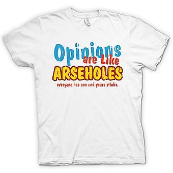 Kids T-shirt - meningen zijn als klootzakken, iedereen heeft een en de jouwe stinkt