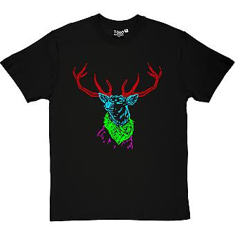 Psychedelic Deer Variant One Black Men's T-Shirt