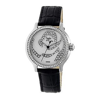 Sophie & Freda Monaco MOP Schweizer Damen Armbanduhr - Silber/Schwarz