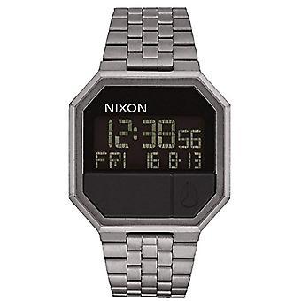 Nixon men's watch Stainless steel band quartz Digital _ A158-632 _ Gunmetal