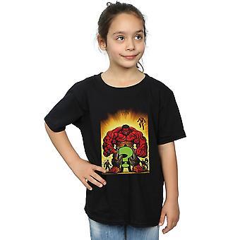 Marvel meisjes die de rode Hulk T-Shirt