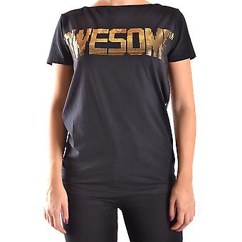 Liu Jo Ezbc086048 Women's Black Cotton T-shirt