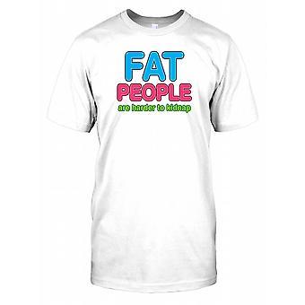 Fede mennesker er sværere at kidnappe - sjove citat Herre T-shirt