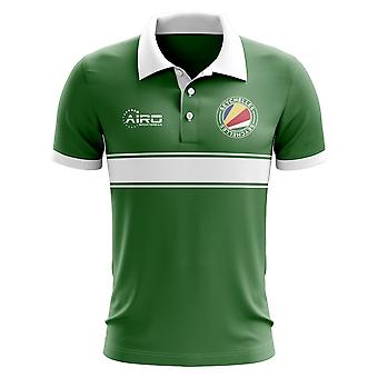 Seychellen-Konzept-Streifen-Polo-Shirt (grün)