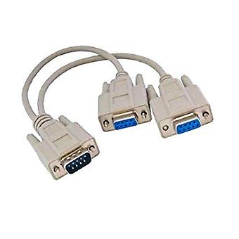 GNG Monitor VGA SVGA Y Dual Splitter Cable Lead Adaptor Converter