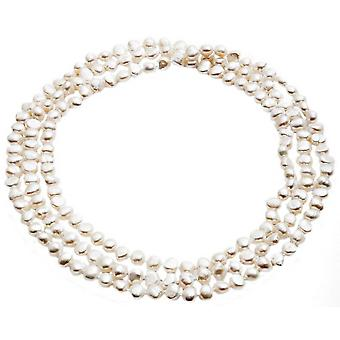 Pearls of the Orient Cultured Freshwater Pearl Loop Necklace - White