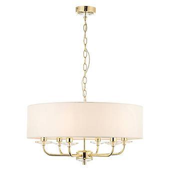 Liberée éclairage Nixon 6 laiton léger effet et le cristal luminaire de plafond suspendu