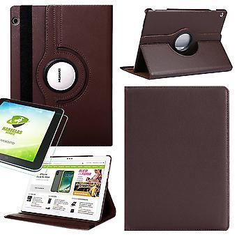 Für Samsung Galaxy Tab S5e T720 T725 360 Grad Hülle Cover Tasche Braun Kunst Leder Case Neu + 0,3 mm Hart Glas
