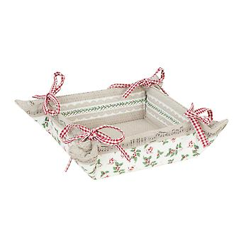 Clayre & Eef ECM47 Bread Basket Reversible Pattern Enchanting Melodies approx. 35x35 cm