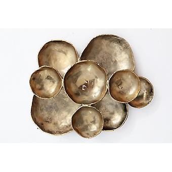 Gold Finish Mushroom Wall D�cor 53x43cm stylish