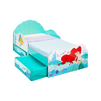 Disney Princess Ariel Toddler Bed With Foam Mattress and Storage