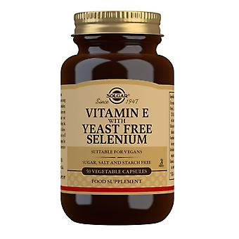 Solgar Vitamin E with Yeast Free Selenium Vegicaps 50 (3350)