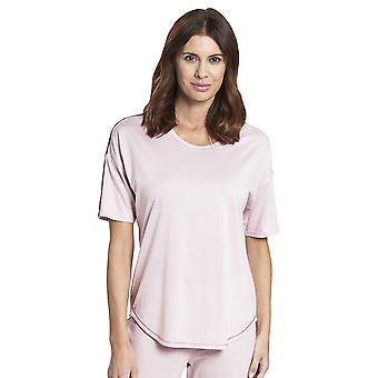 Rösch 1193737-12601 Frauen's Pure Wild Rose Pink Cotton Pyjama Top