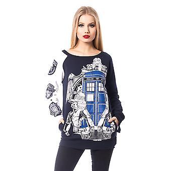 Harteloze-Doctor Who als-Womens trui top-officiële Dr die Merch