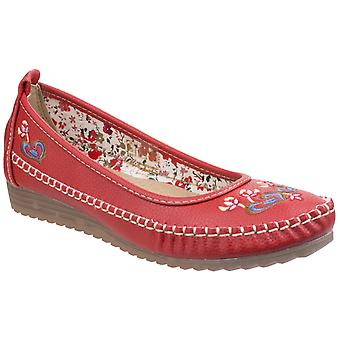 Fleet & Foster Womens Algarve Moccasin Red