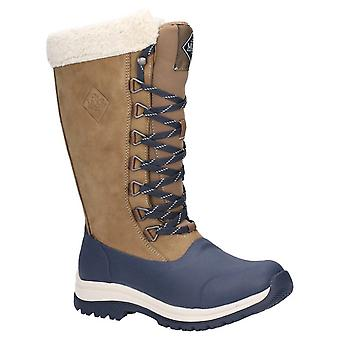 Muck Boots Womens Arctic Apres Lace Tall Wellington Otter/Navy