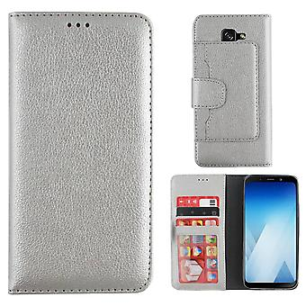 Samsung A5 2018 and A8 2018 Silver Case - Wallet Case
