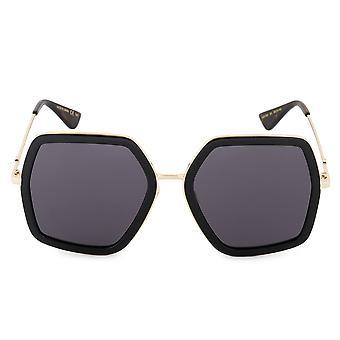 Gucci GG0106S 001 56 Geometric Sunglasses