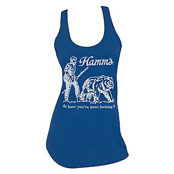 Hamm's Beer Bear Racerback Women's Blue Tank Top
