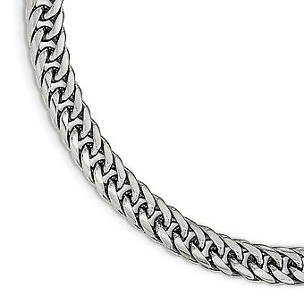 Edelstahl Fancy Hummer Verschluss poliert Doppel Bordstein Kette Armband 9 Zoll Schmuck Geschenke für Frauen
