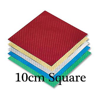 48 Sheets Square Christmas Foil Embossed Star Origami Paper - 10cm