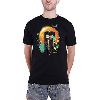 Doctor Who T shirt Jodie en TARDIS nieuwe officiële mens zwart