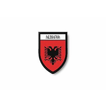 Patch Ecusson Termocollant Bord Brode Drapeau Imprime Albanie Albanais