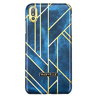 Marvêlle iPhone X/Xs Magnetic Case Golden Velvet Blue