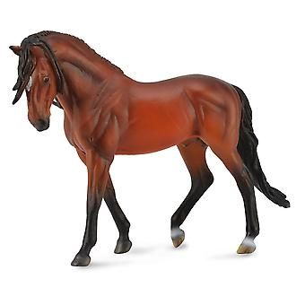 CollectA Andalusian Stallion Bright Bay Deluxe 1:12 Scale