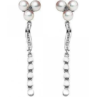 Luna-Pearls Akoyaperlen Studs with Diamonds O129