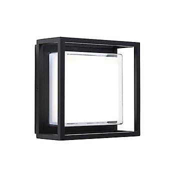 Saxby Lighting Arlow Integrated LED 1 Light Outdoor Wall Lantern Textured Black, Clear IP44 79200