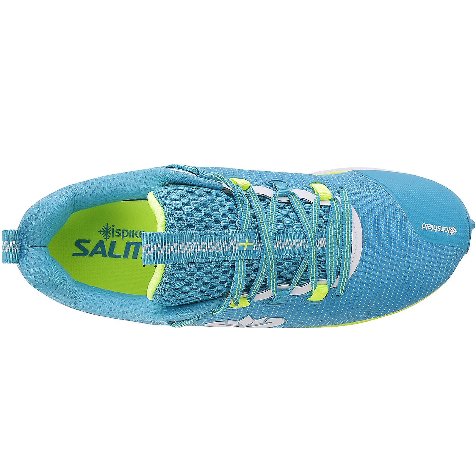 Chaussures Salming Mens Ispike Winter Running Trail Outdoor Sports Trainers - Bleu