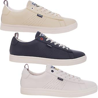 Lambretta Mens Dynamo Retro Lace Up Casual Low Rise Trainers Sneakers Shoes
