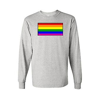 Унисекс с длинным рукавом рубашки гей прайд радужный флаг