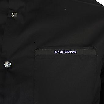 Emporio armani men's custom fit black shirt