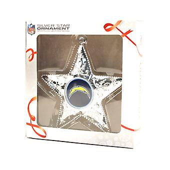 San Diego Chargers NFL Sports Collectors Series Silver Star Ornament