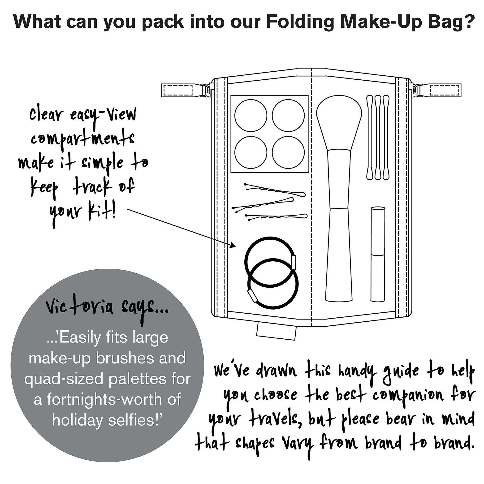 'victoria green' folding makeup bag - lorton smoke
