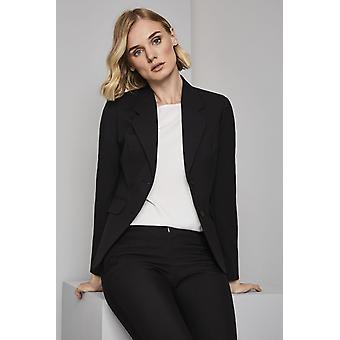 SIMON JERSEY Women's Qualitas 2 Button Jacket, Black