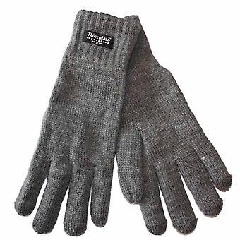 Uusi hyvät lämmin neulottu talvi korkea Cuffed käsineet Thermal Thinsulate musta