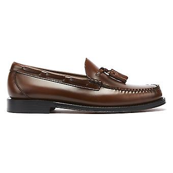 G.H. Bass & Co. Weejuns Heritage Larkin Mens Mid Brown Tassel Loafers