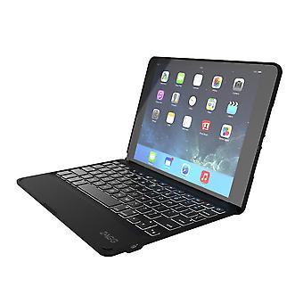 ZAGG Backlit Keyboard Folio Case for Apple iPad Air 2 - Black