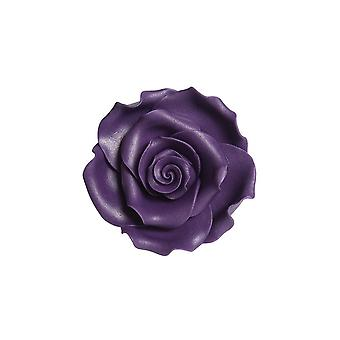 SugarSoft Flor Comestível - Rosas - Roxo 63milímetros - Caixa de 8