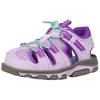 New Balance Unisex-Kid's Adirondack Sandal Sport, Grey/Purple, P1 M US Little...