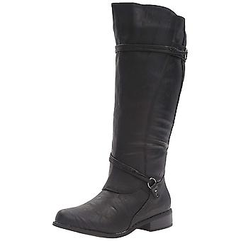Brinley Co Womens Harley Leather Closed Toe Mid-Calf Fashion Boots
