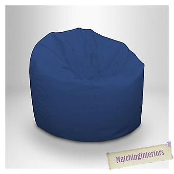 Klaar vast bed | Children's Teens Water Resistant Medium Bean Bag with Beans (Blue)