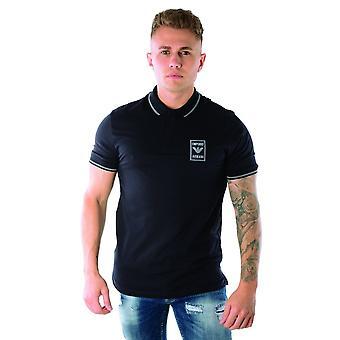 EA7 Emporio Armani Emporio Armani | 6g1fg0 1j46z Reflect Logo Polo T-shirt - Navy