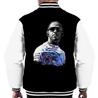 Motorsport Images Lewis Hamilton Wearing Glasses Men's Varsity Jacket