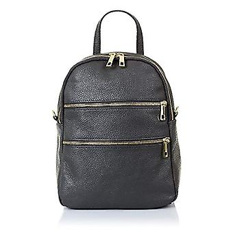 FIRENZE ARTEGIANI. Real casual women's leather backpack. Bag leather backpack authentic leather Dollar soft feel. DAY PACK. MADE IN ITALY. REAL ITALIAN SKIN. 22x27x13cm. Color: Gray