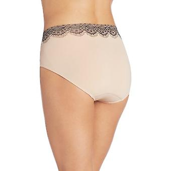 Bali Women's One Smooth U All Over Smoothing Hi Cut Panty, Nude, Black, Size 9.0